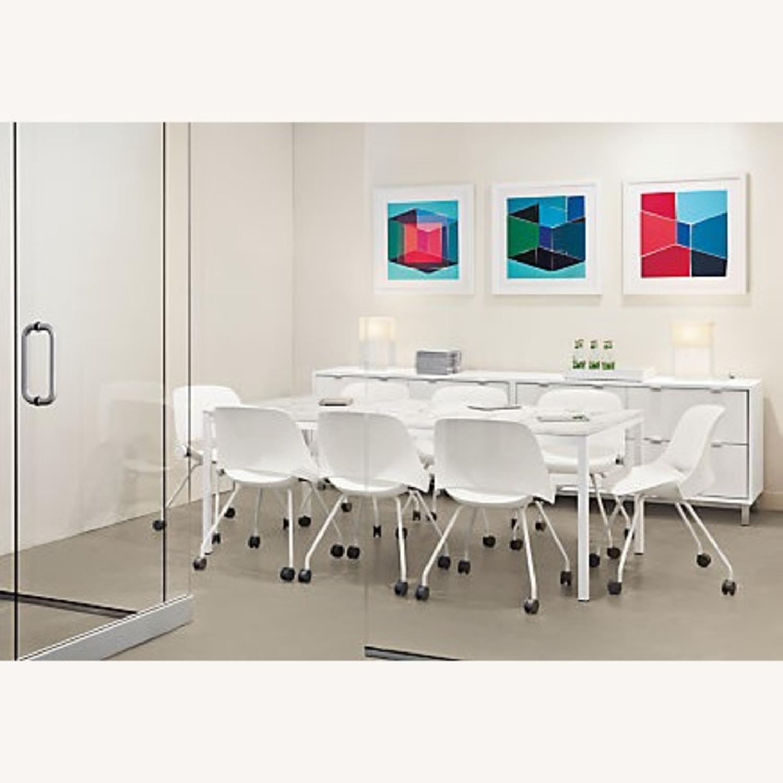 Room & Board White Steel Pratt Table - image-2