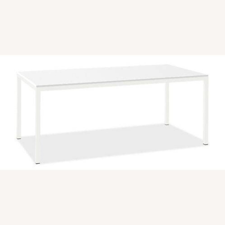 Room & Board White Steel Pratt Table - image-1