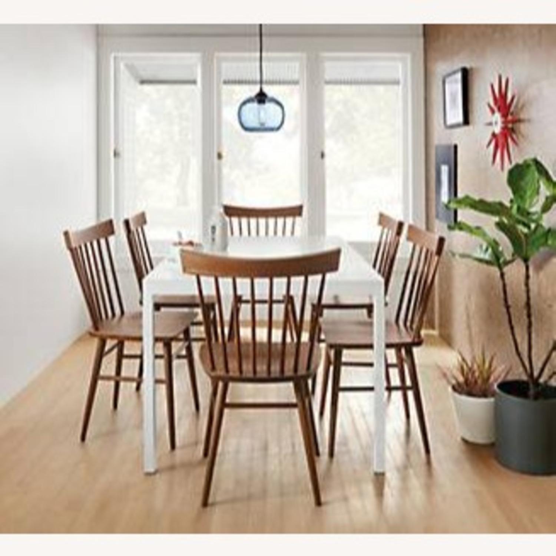 Room & Board White Steel Pratt Table - image-3