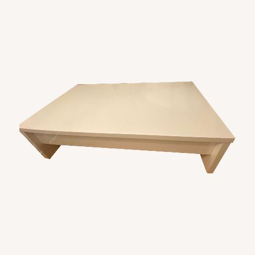 Used Lazzoni White Coffee Table with Storage for sale on AptDeco
