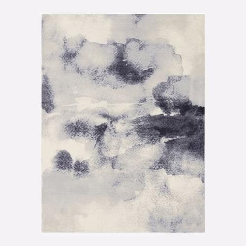 Used West elm custom made cloud print 4x6 rug for sale on AptDeco