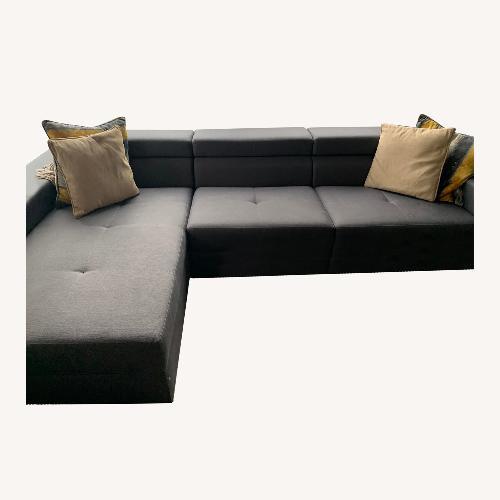 Used Lazzoni  Sectional Grey Sofa for sale on AptDeco