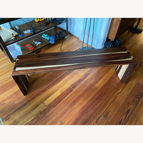 Used African Walnut Bench for sale on AptDeco