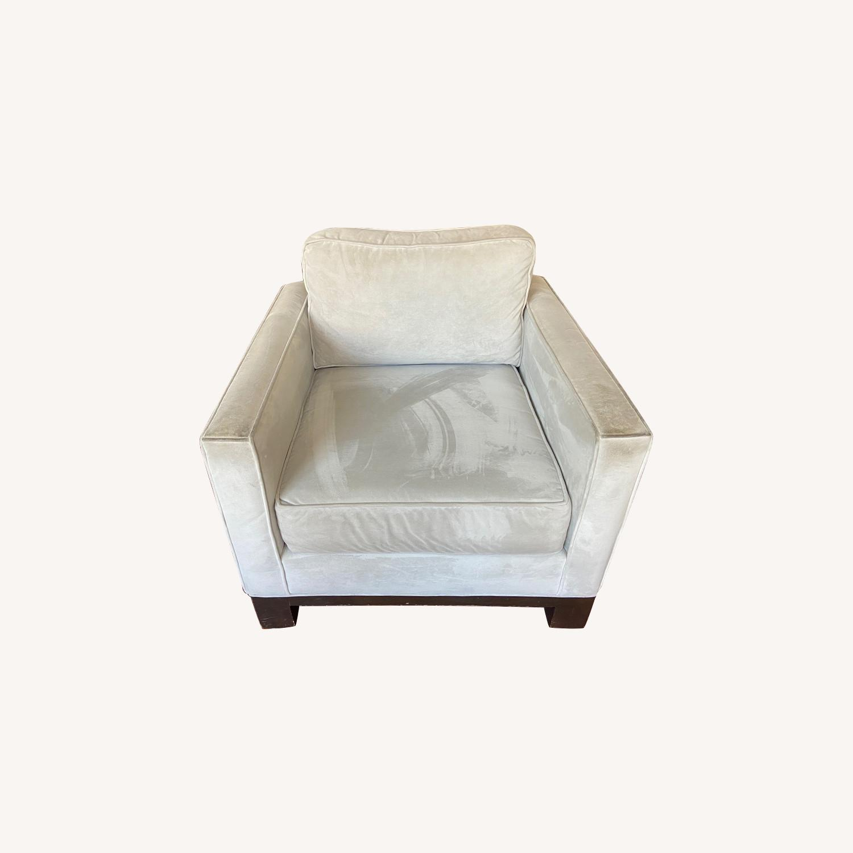 ABC Carpet Gray Suede Chair