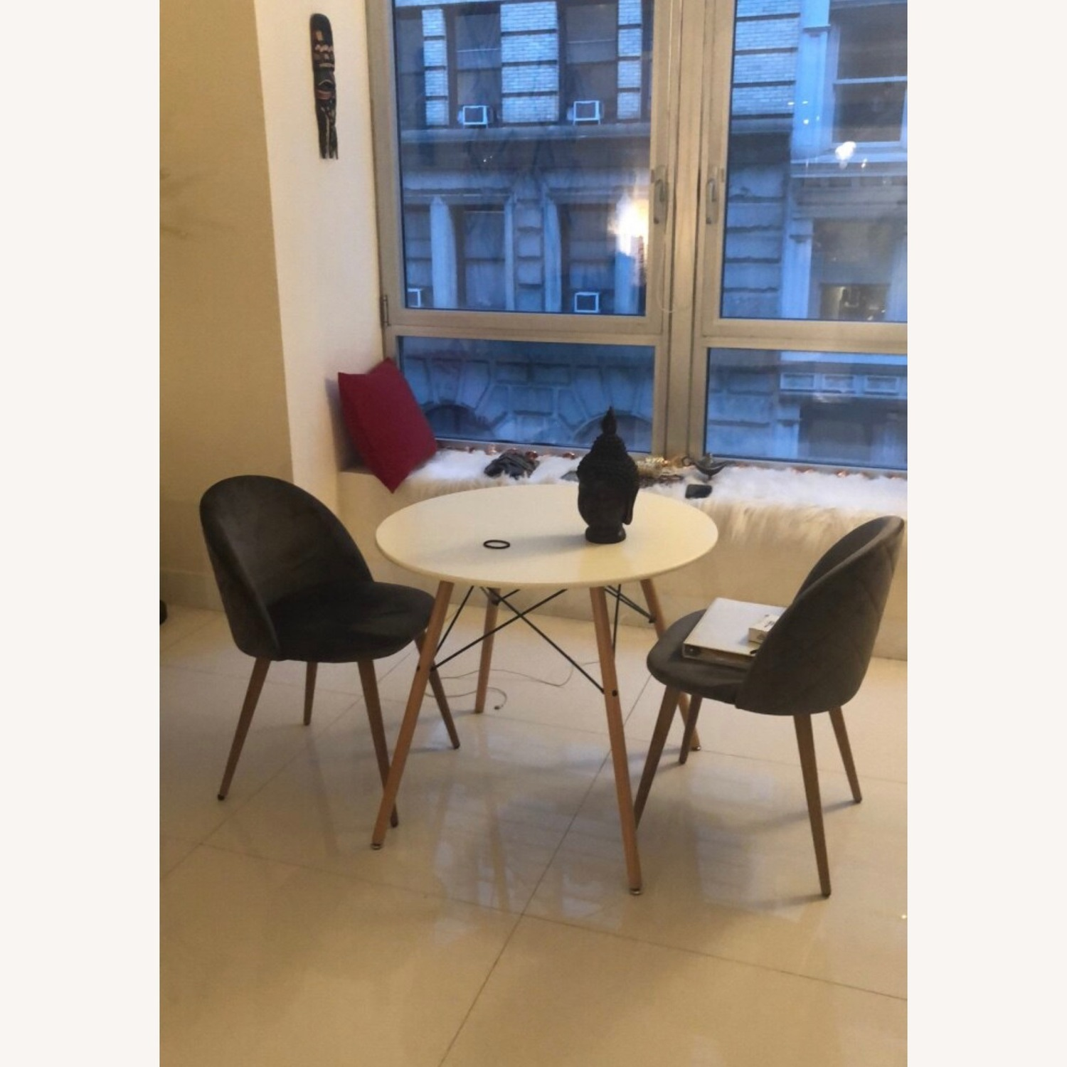 Suede Dining Chair Set