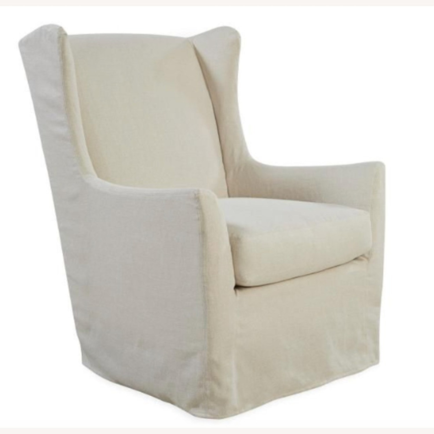 Lee Armchair Chair in Natural Colored Slipcover