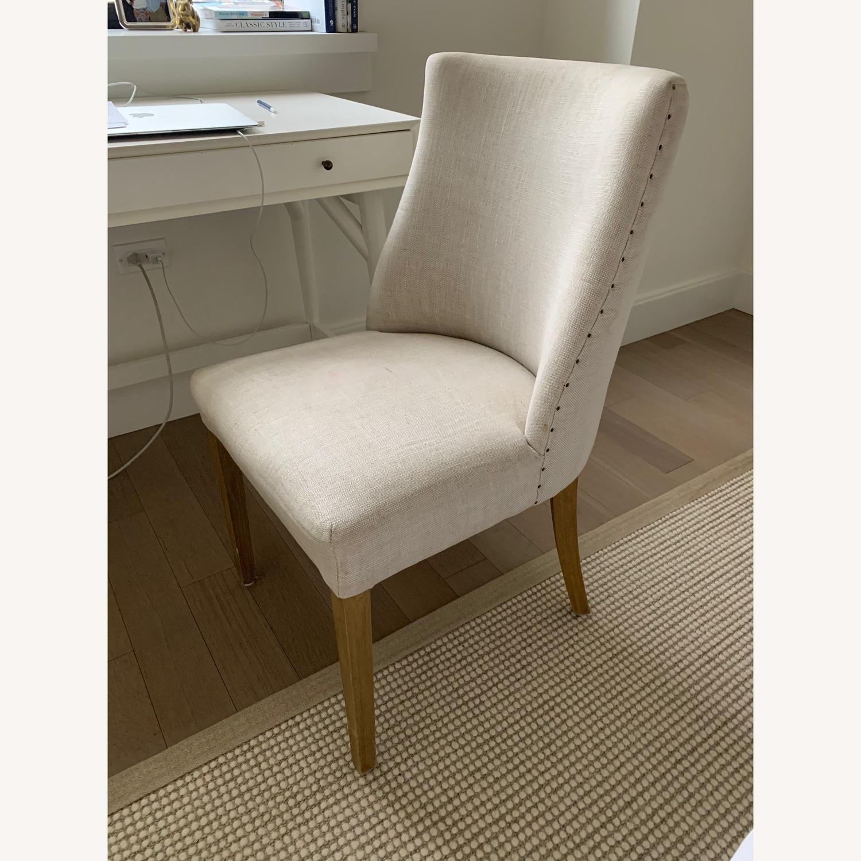 Restoration Hardware French Barrelback Fabric Side Chair