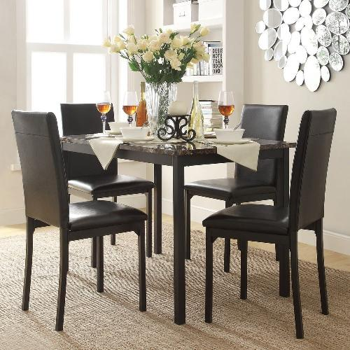 Used Darcy Faux Marble Top 5 Piece Casual Dining Set for sale on AptDeco