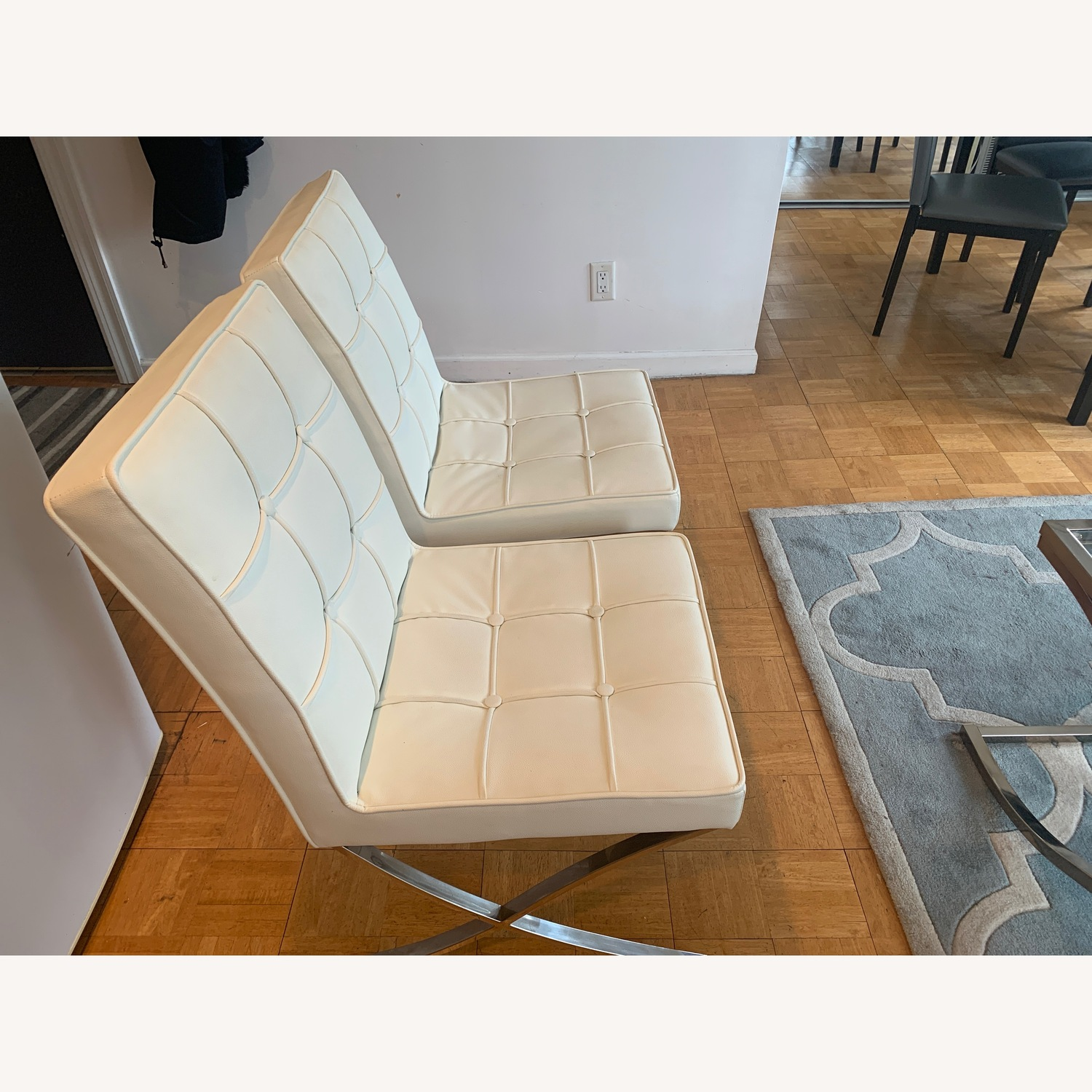 Christopher Knight Tufted Leather Accent Chairs