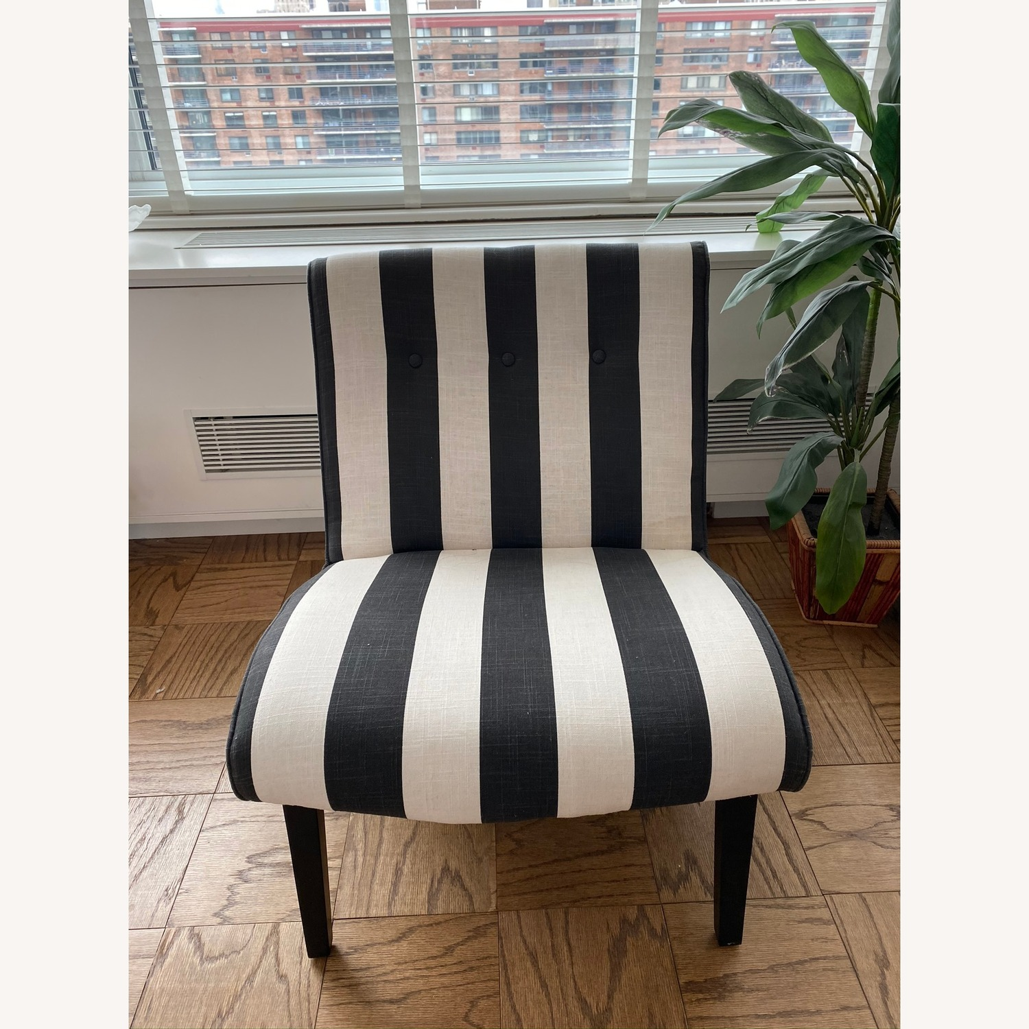 Black and White Accent Chair
