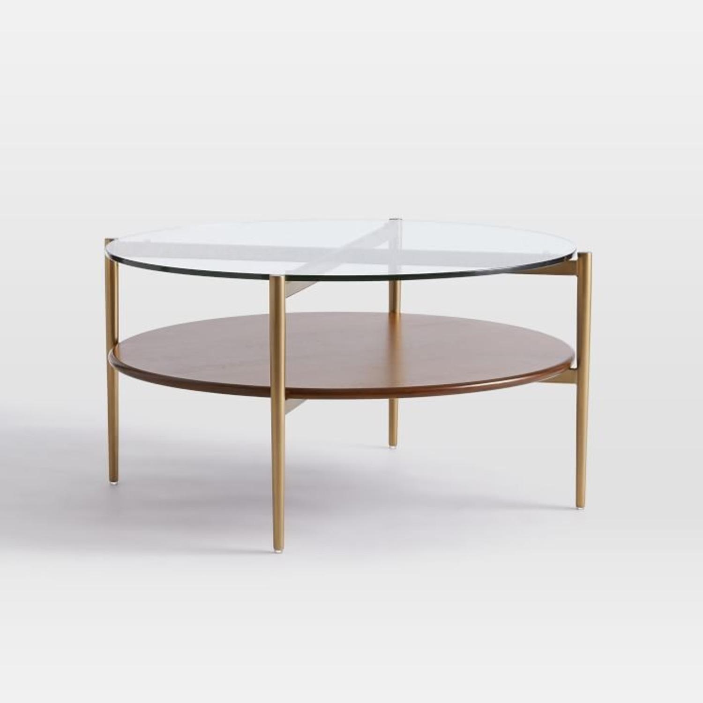 Picture of: West Elm Art Display Round Coffee Table Aptdeco