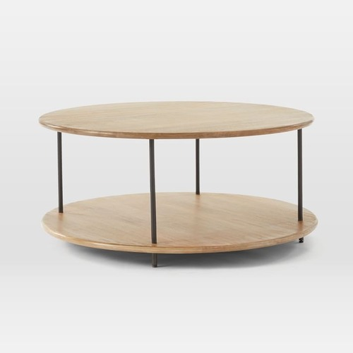 Used West Elm Tiered Wood Coffee Table for sale on AptDeco