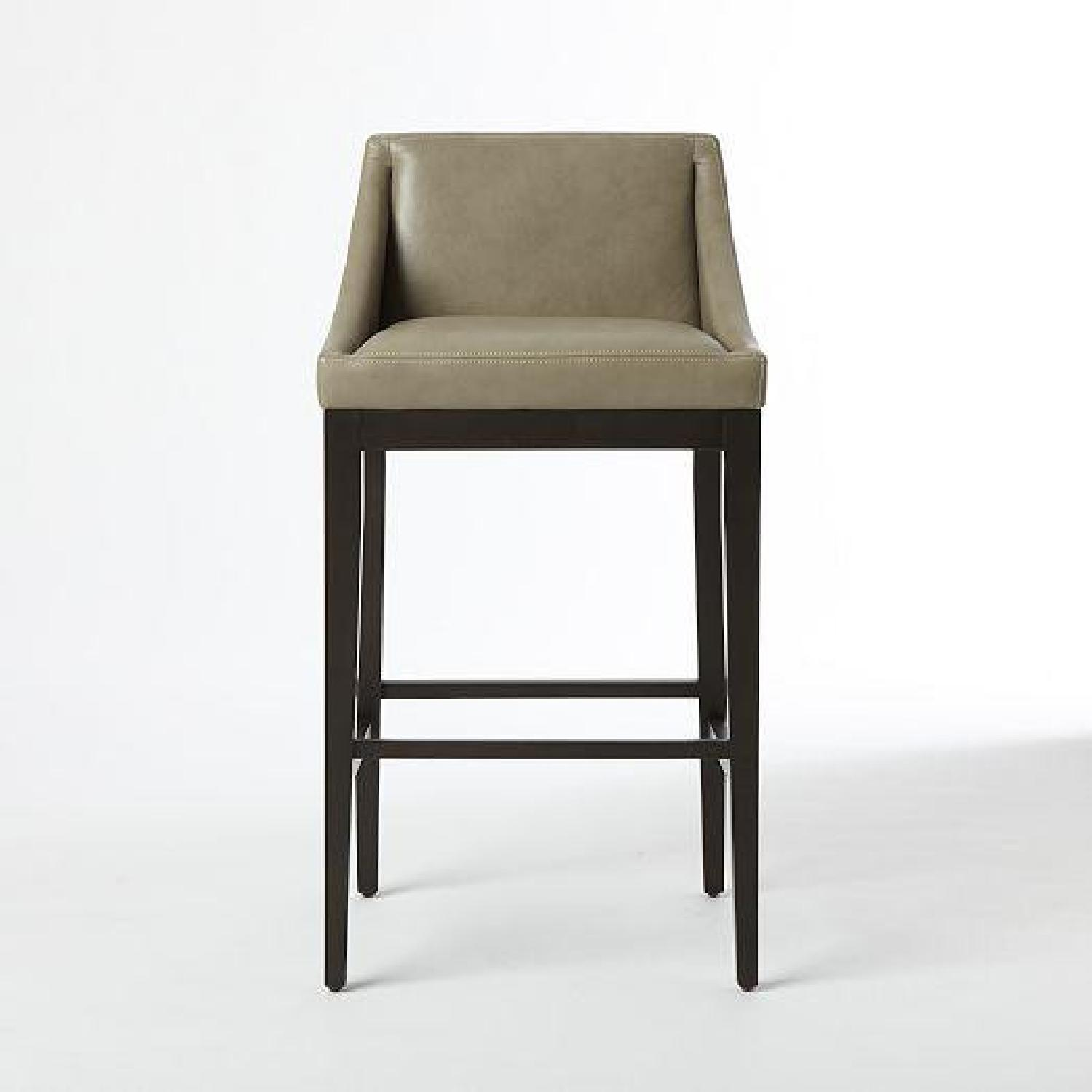 West Elm Leather Stool