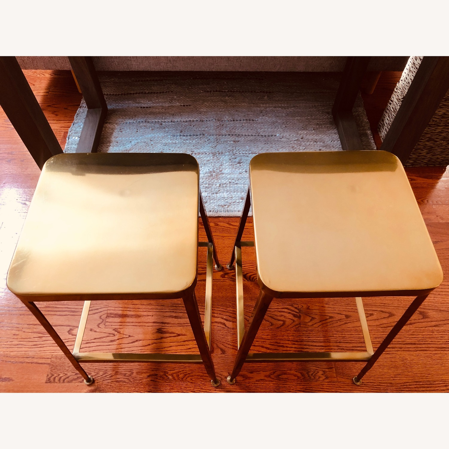CB2 Flint Gold Counter Stool