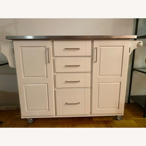 Used Crate & Barrel Kitchen Storage Cart for sale on AptDeco