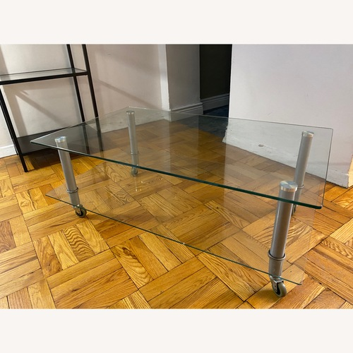 Used Contemporary Glass Coffee Table for sale on AptDeco