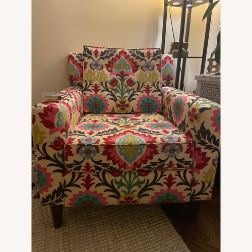 Used Patterned Accent Chair for sale on AptDeco