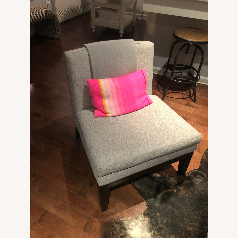 West Elm Grey Accent Chair