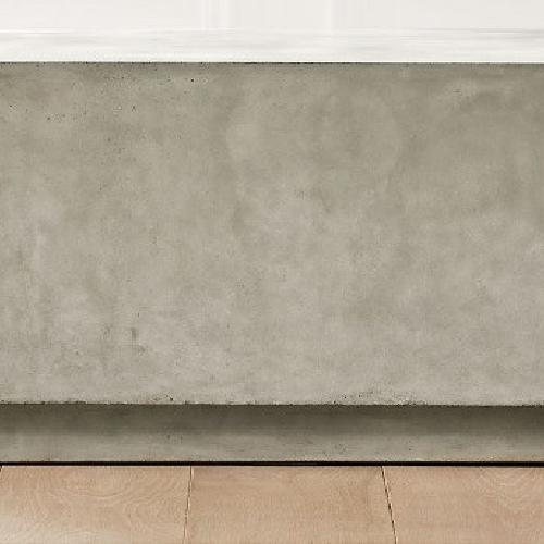 Used CB2 Cement Square Coffee Table for sale on AptDeco