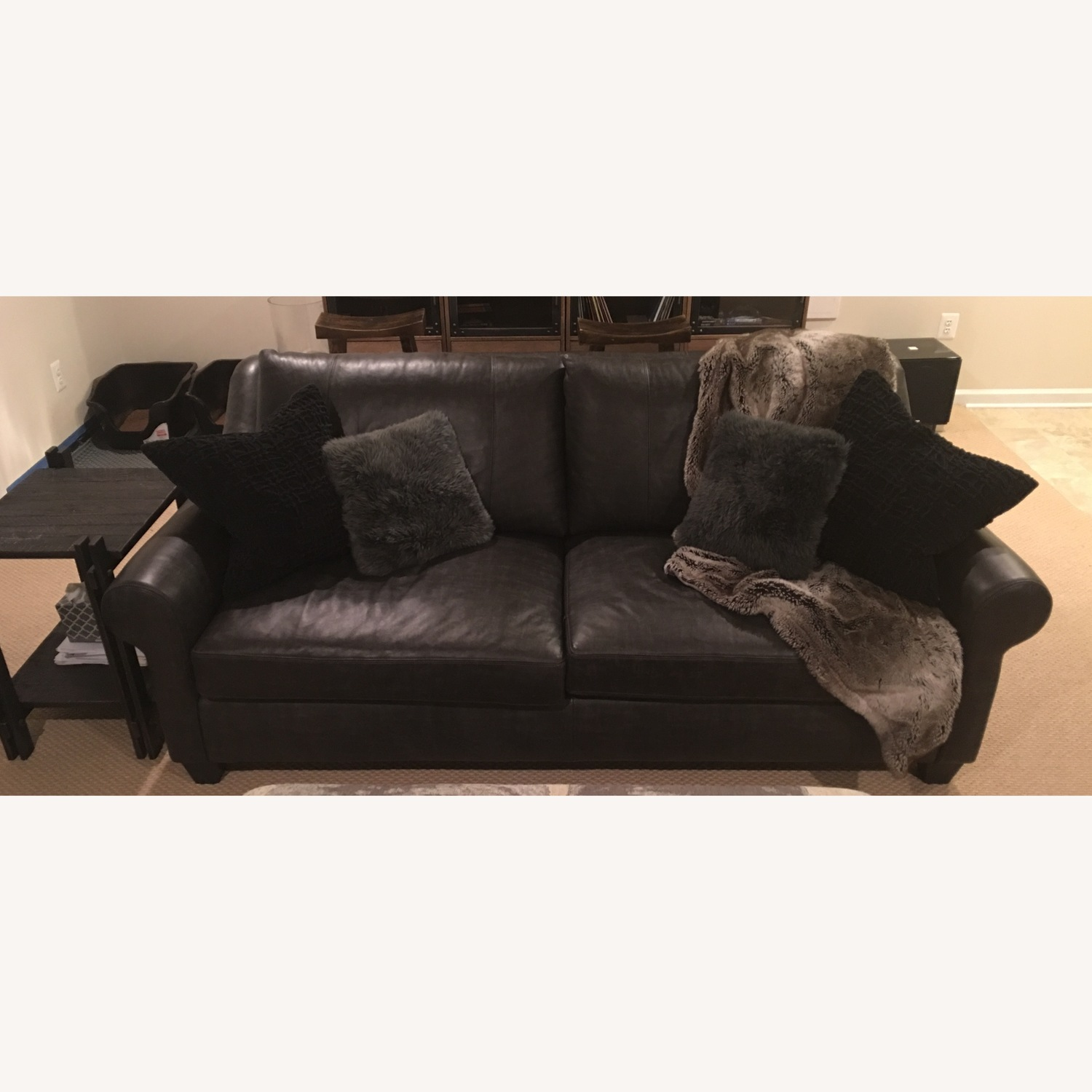 Arhaus Rockway Leather Sofa - image-4