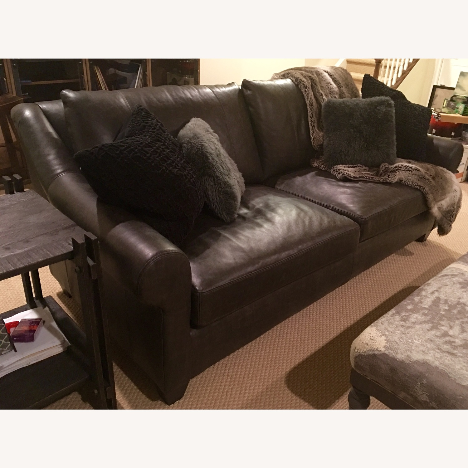 Arhaus Rockway Leather Sofa - image-8