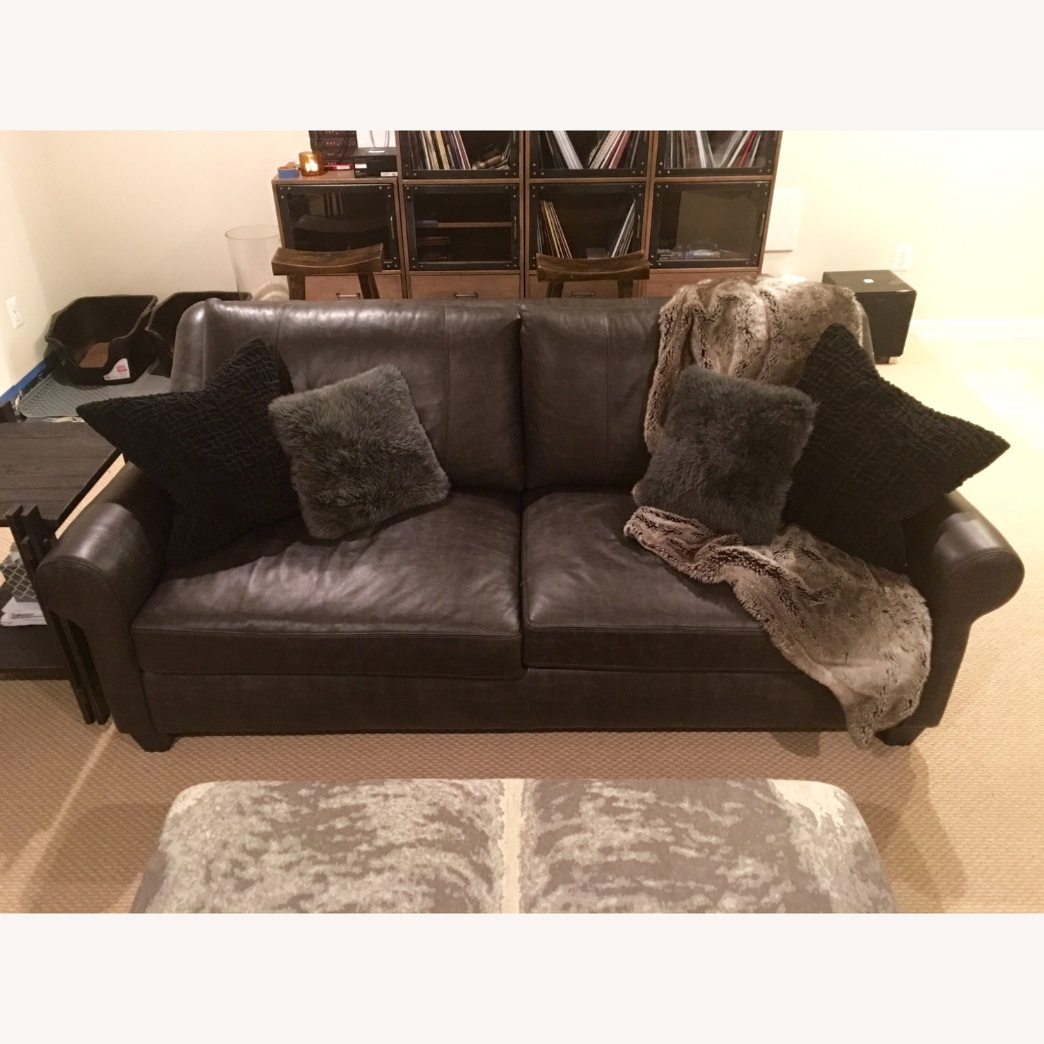Arhaus Rockway Leather Sofa - image-1