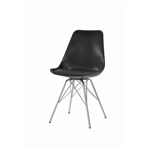 Used Contemporary Dining Chair w/ Chrome Legs for sale on AptDeco
