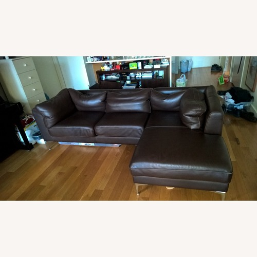 Used Design Within Reach Leather Sofa for sale on AptDeco
