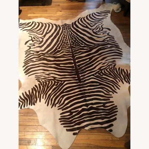 Used Serena & Lily Zebra Hair Area Rug for sale on AptDeco