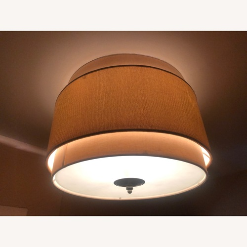 Used Serena & Lily Ceiling Mount Drum Shade for sale on AptDeco