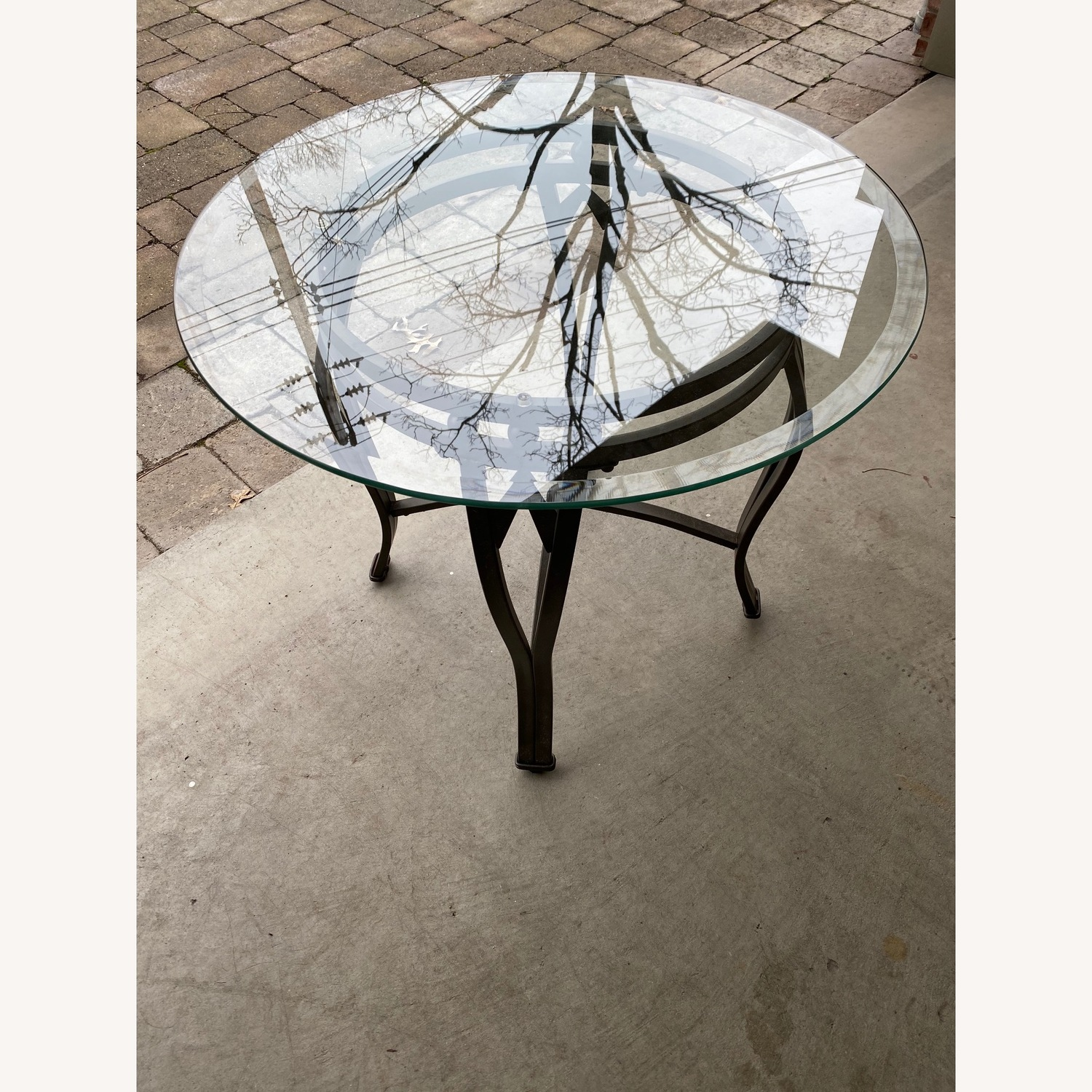 Raymour & Flanigan Glass Coffee & End Table - image-3