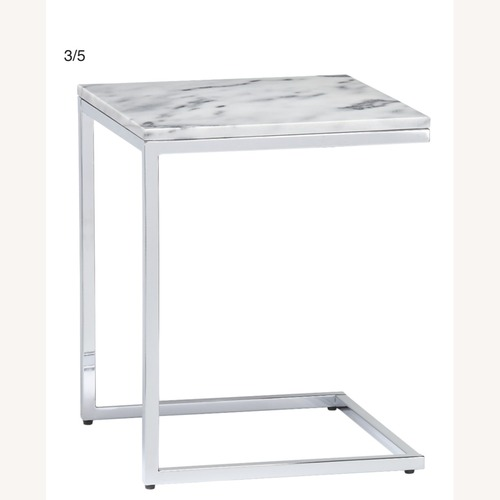 Used CB2 Marble Top Smart C Table for sale on AptDeco