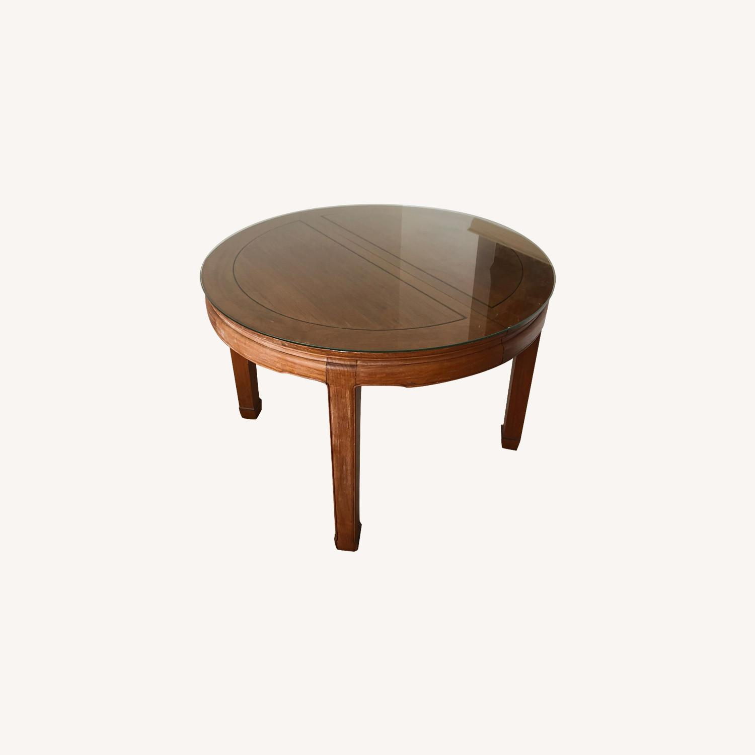 Antique Wood Dining Table - image-0