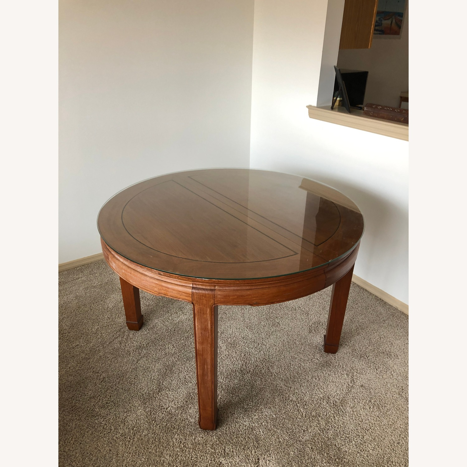 Antique Wood Dining Table - image-1