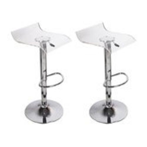 Used Acrylic Clear Bar Stools (Set of 2) for sale on AptDeco
