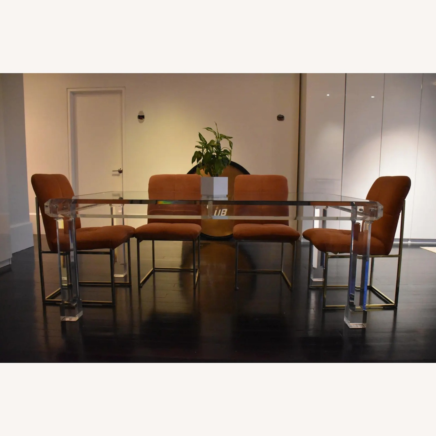 1970s Glass & Lucite Dining Room Table - image-2