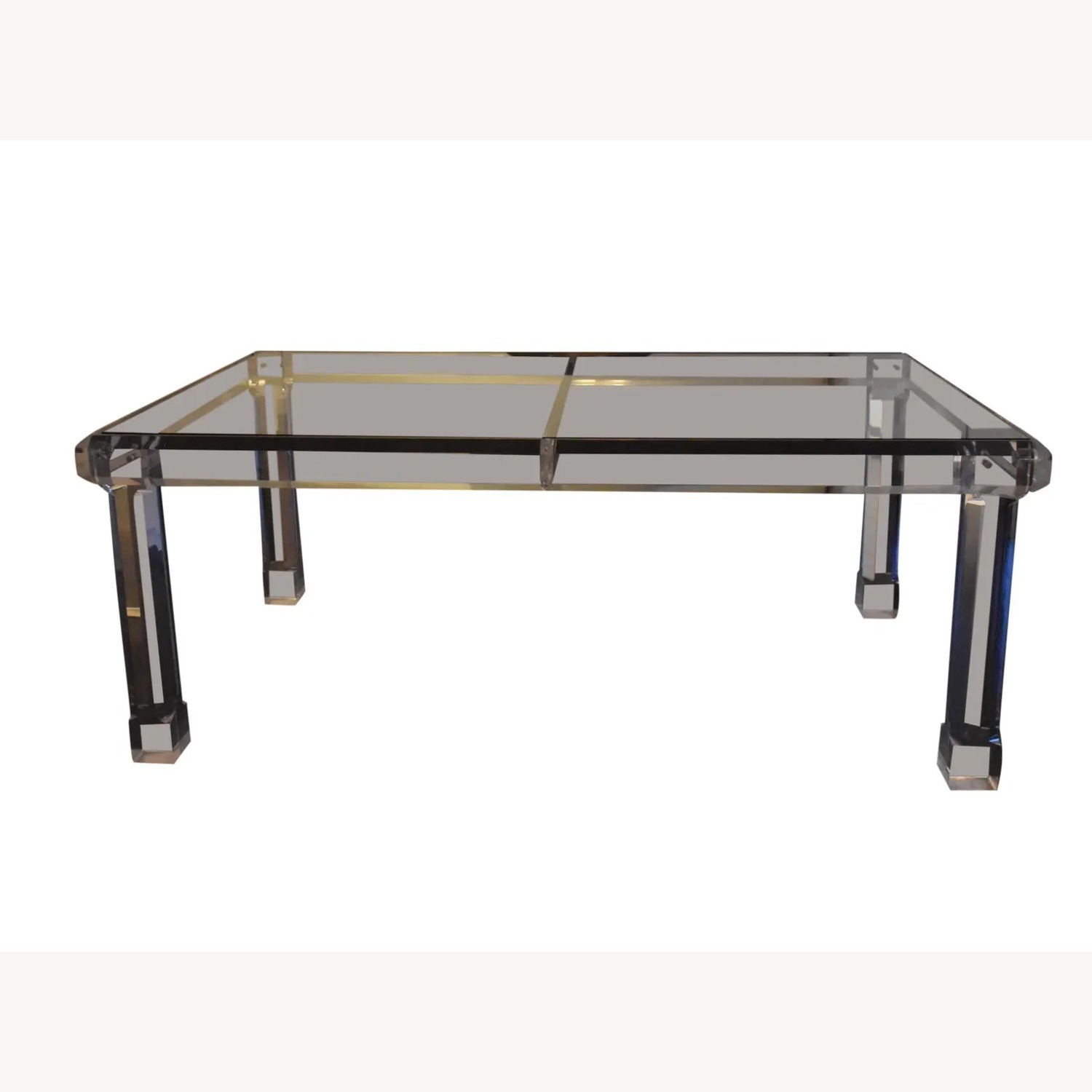 1970s Glass & Lucite Dining Room Table - image-1