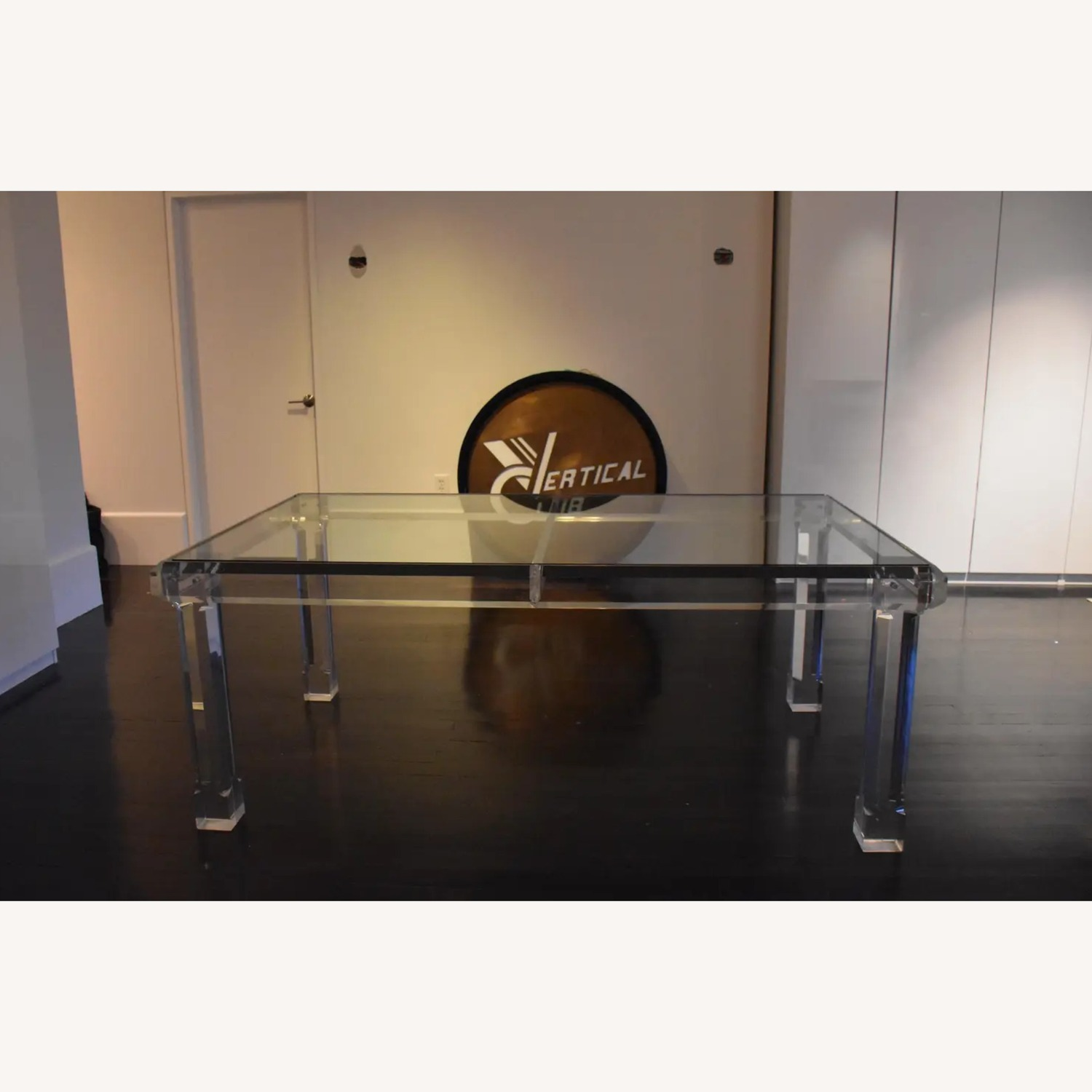 1970s Glass & Lucite Dining Room Table - image-7