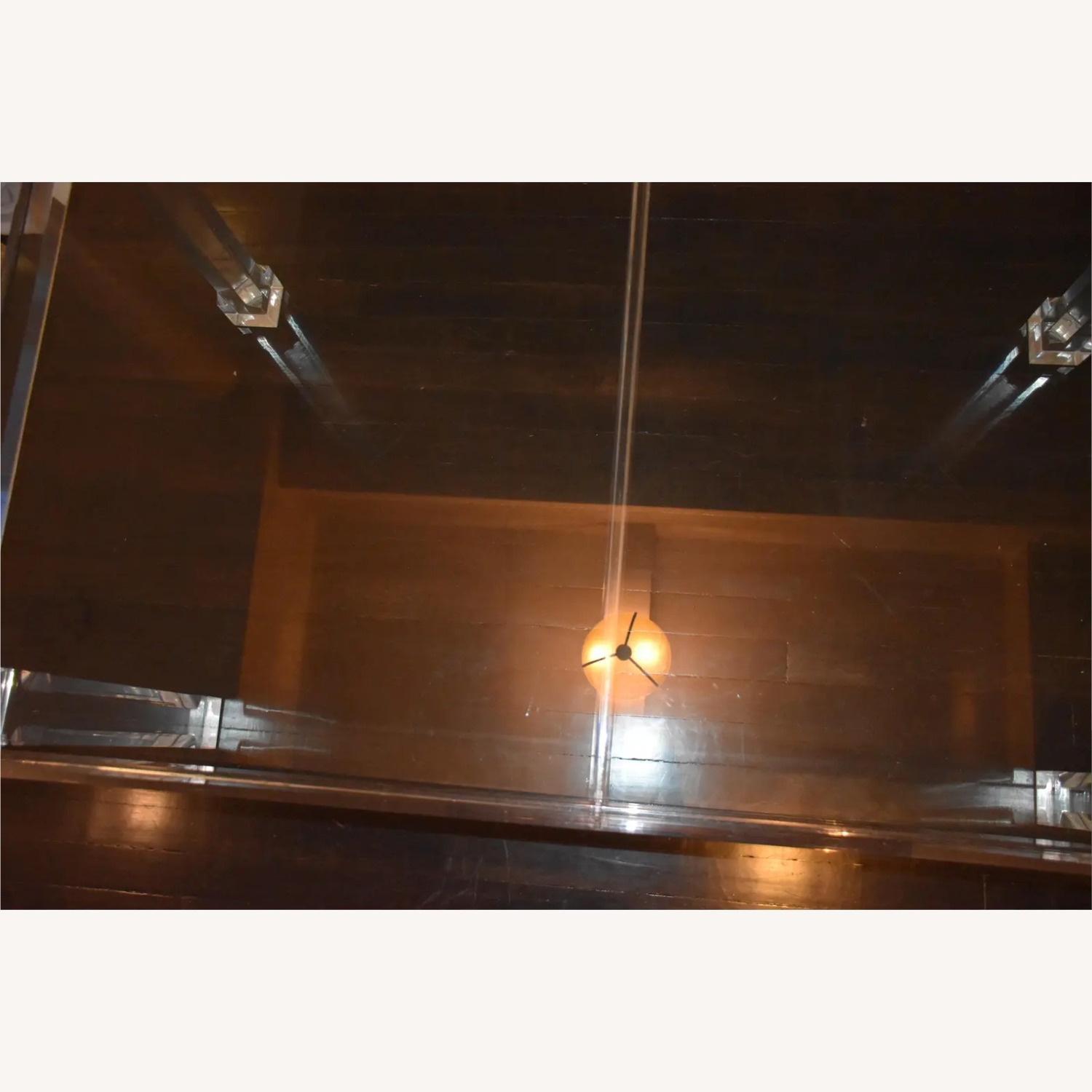 1970s Glass & Lucite Dining Room Table - image-6