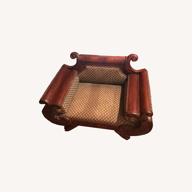Antique Miniature Mahogany Setee - image-0