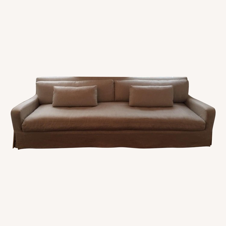 Restoration Hardware Belgian Slipcovered Sofa - image-2