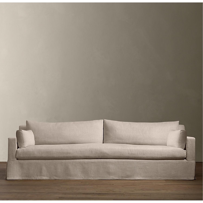 Restoration Hardware Belgian Slipcovered Sofa - image-3
