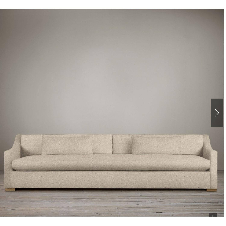 Restoration Hardware Belgian Slipcovered Sofa - image-1