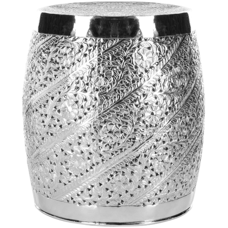 Safavieh Silver Nickel Plated Decorative Stool - image-0