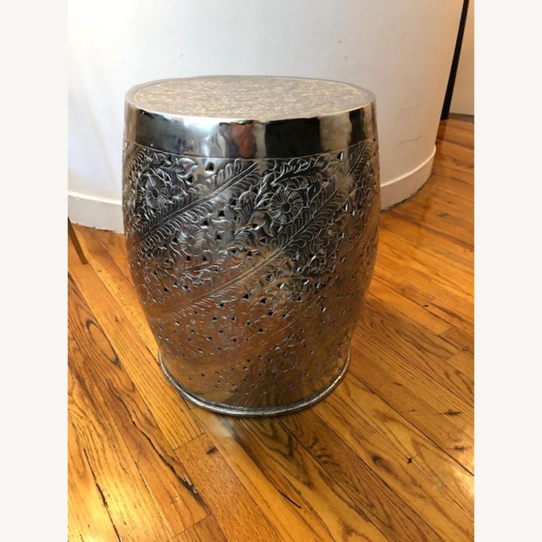 Safavieh Silver Nickel Plated Decorative Stool - image-1
