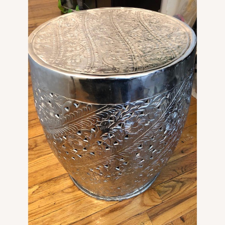 Safavieh Silver Nickel Plated Decorative Stool - image-2