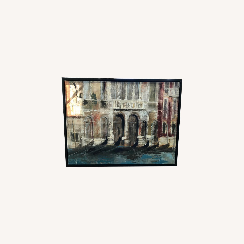 Bed Bath & Beyond Canal Framed Art Canvas - image-0
