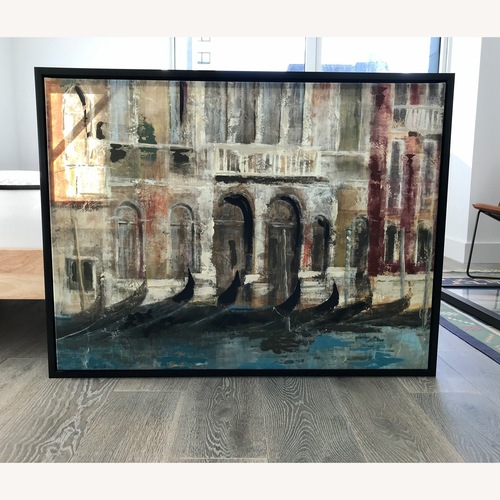 Used Bed Bath & Beyond Canal Framed Art Canvas for sale on AptDeco