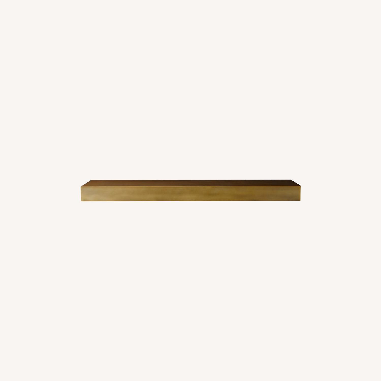 Restoration Hardware Floating Metal Shelf in Brass - image-0
