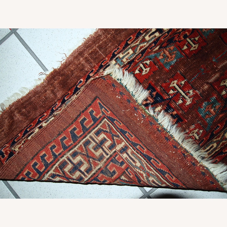 Handmade Antique Collectible Turkmen Yomud Rug - image-3